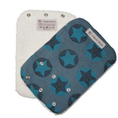 Frl. Hübsch Trägerschoner Sterne grau