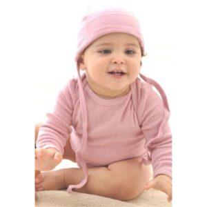 Alkena Body rosa langärmlig aus Bouretteseide