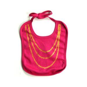 BWA Lätzchen pink mit Goldkette