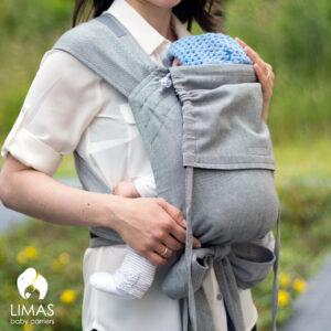 LIMAS Babytrage – schwarz/grau Modell 2018