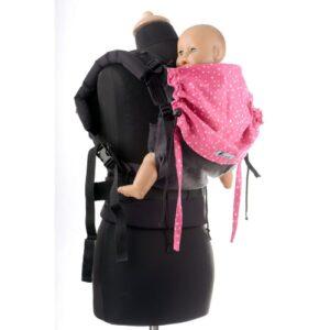 Huckepack Full Buckle schwarz/pinke Sterne Medium