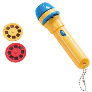 Moulin Roty Geschichten-Taschenlampe gelb-blau