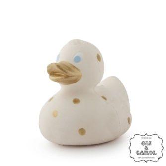 Elvis the duck golden dots