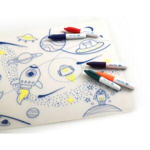 Super Petit Silikon Zeichnungsmatte Weltall