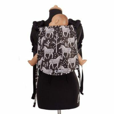 Huckepack Onbuhimo schwarz Zebra Mediumsize