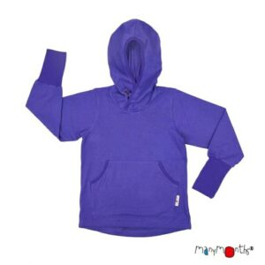 ManyMonths ECO Hooded Kangaroo Top violett