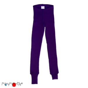Manymonths Woll-Leggings Majestic Plum