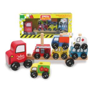 Vilac – Lastwagen mit Stapelfahrzeugen
