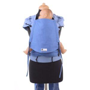 Huckepack Wrap Tai blau Babysize