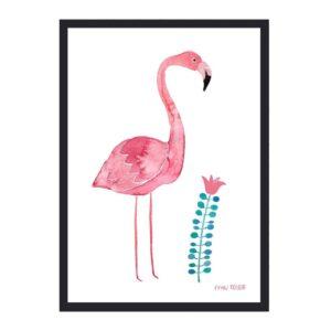 Frau Ottilie – Print DIN A4 Flamingo