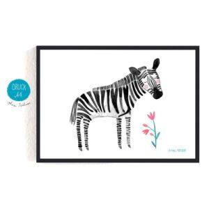 Frau Ottilie – Print DIN A4 Zebra