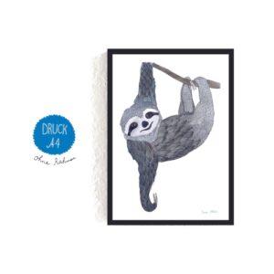 Frau Ottilie – Print DIN A4 Faultier
