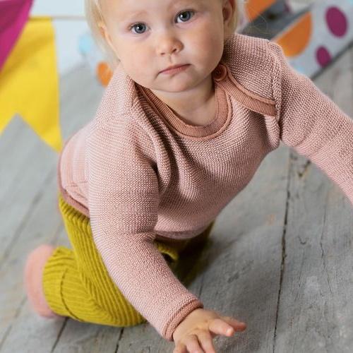 disana melange Pulli bio Merinowolle Baby Pullover Schurwolle Merino Wolle öko